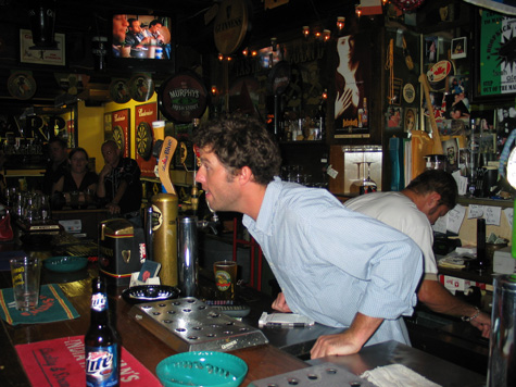 [picture: danny tending bar]