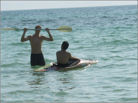 [picture] eric and krishen in the gulf of mexico