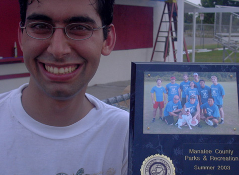 [picture: me with championship plaque