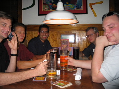 [picture: cheers!  the group down at the outback Aussie-styled steakhouse]