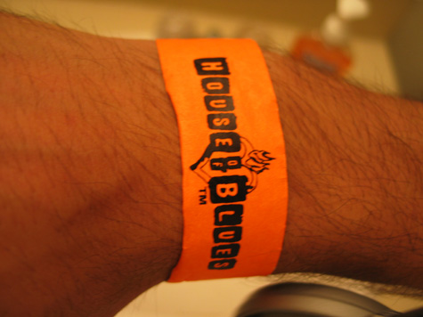 [picture: house of blues 21+ bracelet on my wrist]