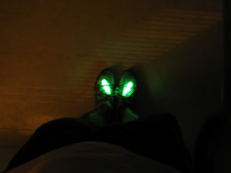 [glowsticks in my shoes]