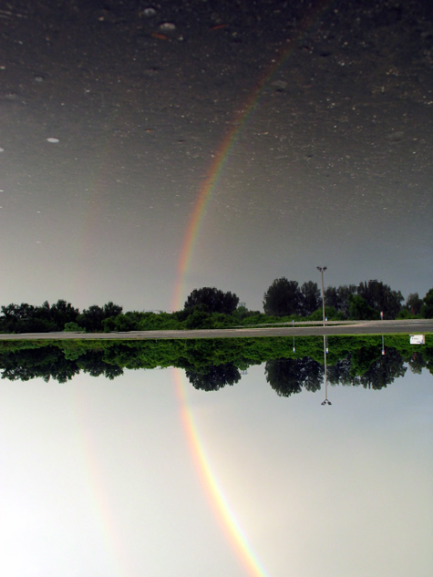 [picture: rainbow reflection]