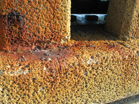 [picture: corroded concrete]