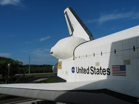 [picture: rear of shuttle discovery