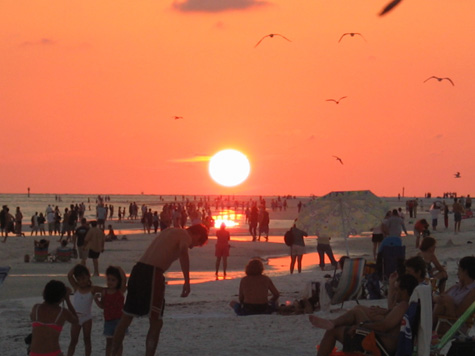 [picture: sunset at siesta key]