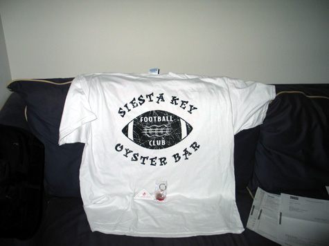 [picture: skob football shirt + doodads]